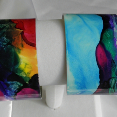 Group of painted cuff bracelets