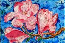 Wax Batik Pink Magnolia