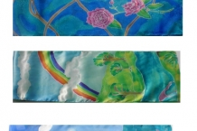 Sampling of Hand Painted Silk Scarves